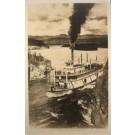 Canada Yukon Steamboat Rapids RPPC