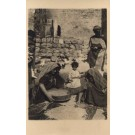 Palestine Israel Grains Sifting Women RPPC