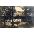 WISCONSIN Lake Geneva Camp Dining Hall Group RPPC