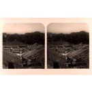 China Working at Roof Stereoview Real Photo