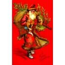 Santa Claus Carrying Tree Doll Christmas