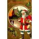 Santa Claus Carrying Drum Christmas