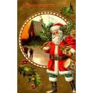 Santa Claus Carrying Drum Christmas