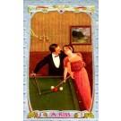 Billiard Lady in Love Billiards Table Sports