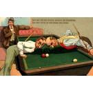 Billiards Players Clashing Heads Sports