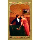 Lovers Looking at Each Other Billiards Sports