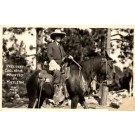 President Coolidge on Horse South Dakota RPPC