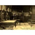 Military at Billiard Table at Camp Canteen