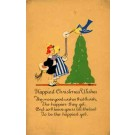 Girl with Candle Christmas Poem Volland