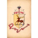 Coat of Arms UK Duke Stag Hand-Drawn