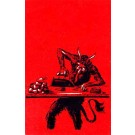 Krampus Ironing Hearts Christmas