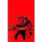 Krampus Ironing Hearts Christmas