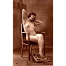 French Risque Nude In Chair RP
