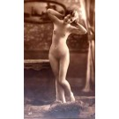 French Risque Nude on Pillow RP