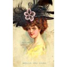 Lady Feather Hat Novelty