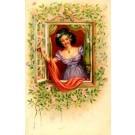 Art Nouveau Girl in the Window