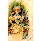 Lady and Iris Art Nouveau HTL