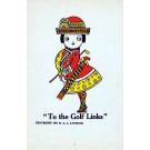 Woman Golfer Caricature