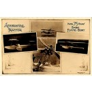 Aviation Flying Boat Advert Real Photo