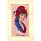 France Woven Silk WW1