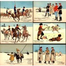 Russo-Japanese War Military on Horses Set of 6