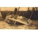 Shipwreck in Narrows Real Photo