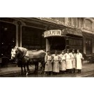 Workers by Horse-Drawn Wagon Real Photo
