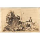 Wreck of Airship Real Photo