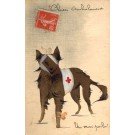 Wounded Red Cross Dog Hand-Drawn