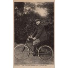 Novelist Conan Doyle on Bicycle