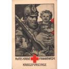 Soldier Holding Baby Child WW1