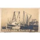 Wreck of Ship at Tivoli Real Photo