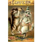 Dancing Cat in Confetti Tuck