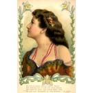 Glamour Lady Fold-Out Novelty Poem