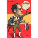 Spanish King Alphonse as Toreador Satire