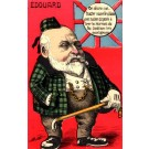 British King Edward VII Smoking Cigar Satire