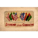 Flags Souvenir from Gibraltar Embroidered Silk