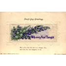 Flower Delphinium Woven Silk