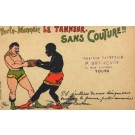 Black Boxer Boxing Gloves Advertising