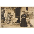 Woman Storefront NH Real Photo