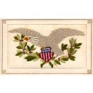 Eagle Coat of Arms Patriotic Embroidered Silk