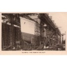 Ocean Liner Olympic in Slip Real Photo