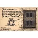 Teddy Bear by Door Hiding Poem Foldout