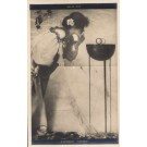 Kirchner Lady Lighting Cigarette Tuck Real Photo