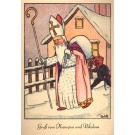 St. Nicholas Followed by Little Krampus