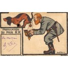 Soldier Collecting Dachshund Dog Poop Mechanical