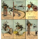 Irish Horse-Drawn Cart Tourist Comic Set
