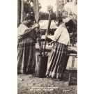 Seminole Indian Women at Work RP