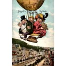 Jews in Hot Air Balloon over Karlsbad