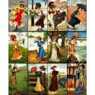 Twelve Months Art Nouveau Girls